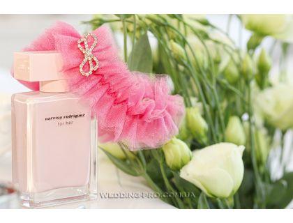 """Подвязка невесты розовая """"Роуз"""""""