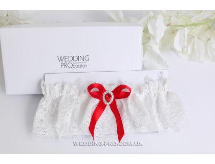 """Красная подвязка невесты """"Беатрис"""""""