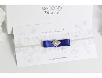 """Подвязка невесты синяя  """"Lite"""""""