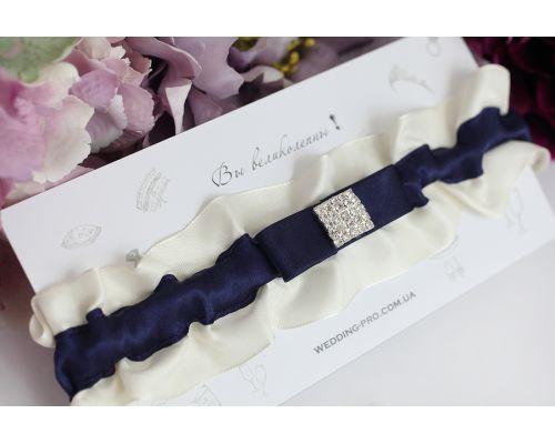 """Синяя подвязка невесты """"Нежность"""""""