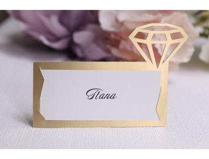 "Карточки с именами на стол ""Кристалл"""