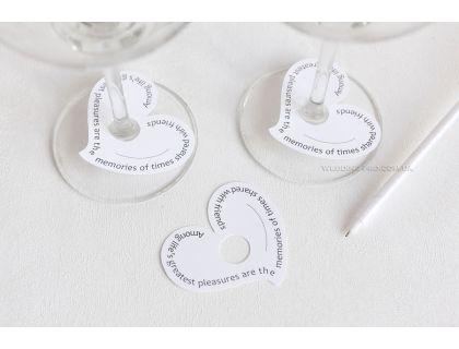 "Таблички на стол для имен ""Heart"""