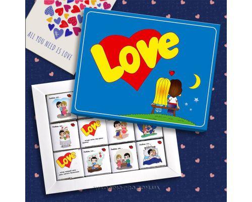 love is коробка  - шоколадный набор с милыми признания 60 г