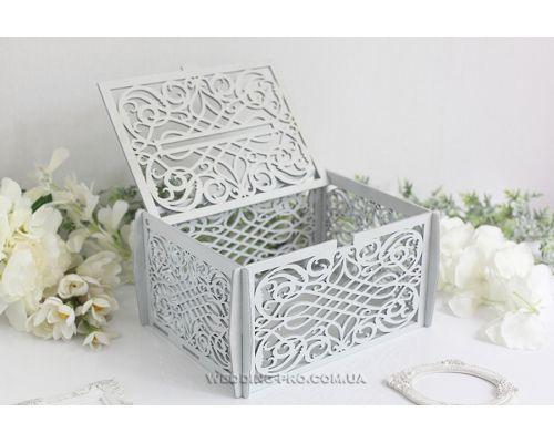 Коробка для денег на свадьбу ажурная