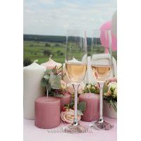 Свеча серо-розовая