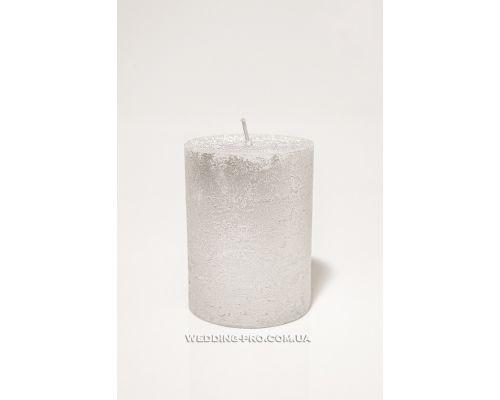 Свеча с серебристым напылением