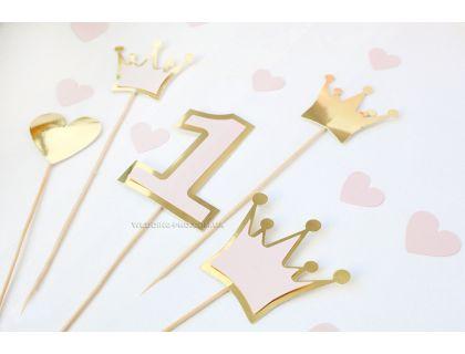 """Топперы на день рождения девочки """"Princess"""""""