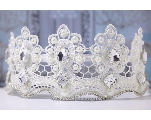 """Корона свадебная """"Кружевное вдохновение"""""""