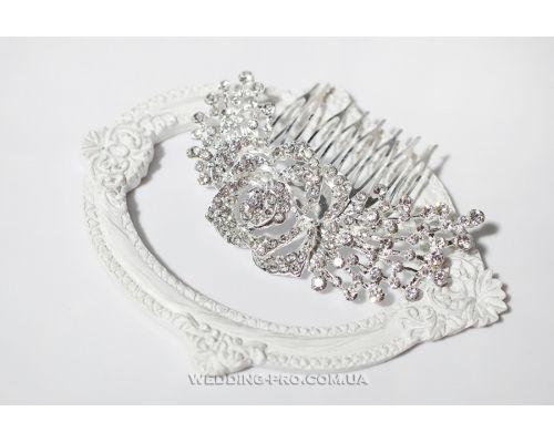 Свадебный гребень для волос с камнями