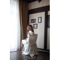 """Набор """"УТРО НЕВЕСТЫ"""" : свадебный халатик с надписью Bride и накидка на стул"""
